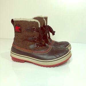 Sorel Winter Boots Herringbone Pattern Waterproof